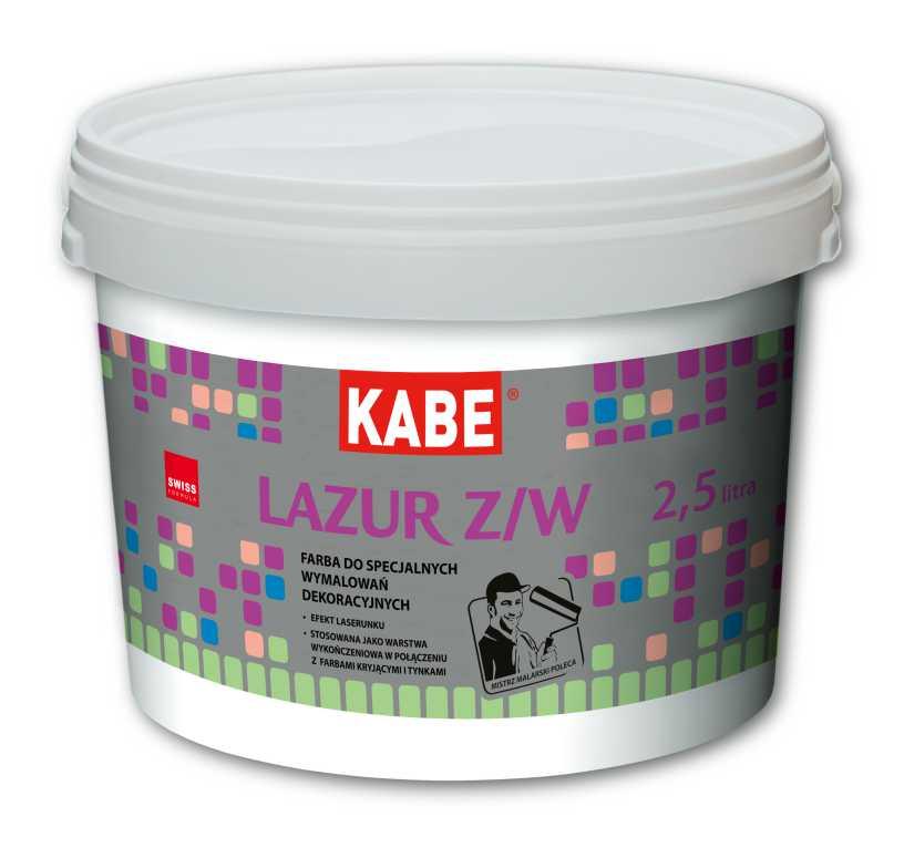 Farba dekoracyjna, lazurująca do ścian - LAZUR Z/W - FARBY KABE