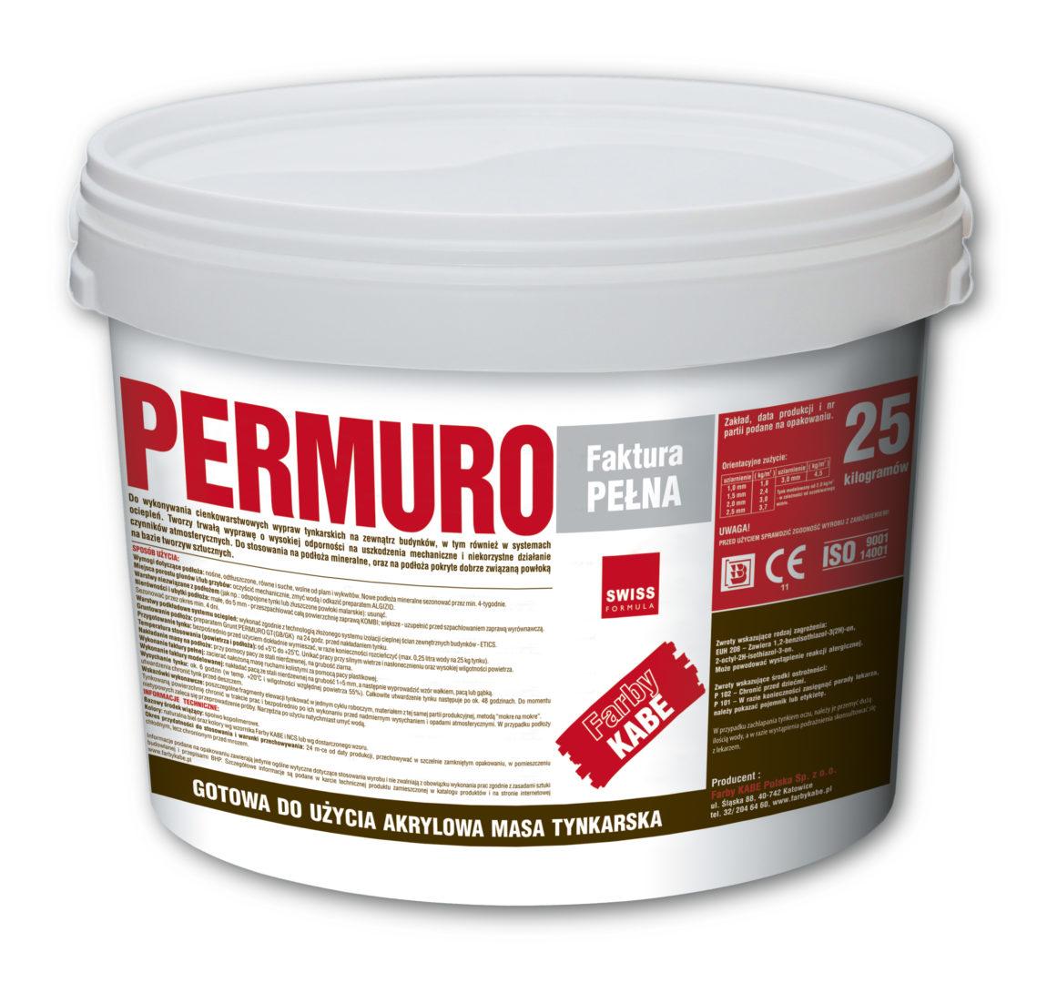 Tynk strukturalny PERMURO - Akrylowa masa tynkarska